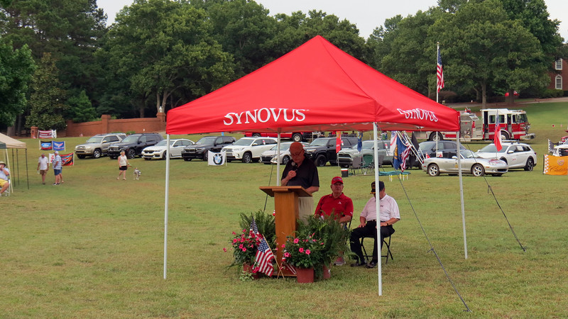 In addition to the car show, the Crystal Hills Memorial Day Celebration features a short program dedicated to Memorial Day and all that it represents.  The event organizers welcomed everyone and got the festivities underway.