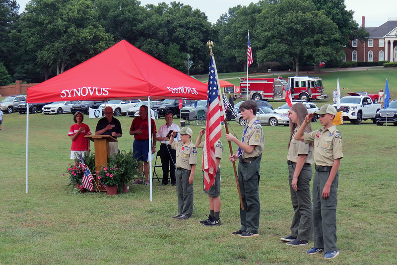 This year, the Colors were presented by representatives from area Scout troops.