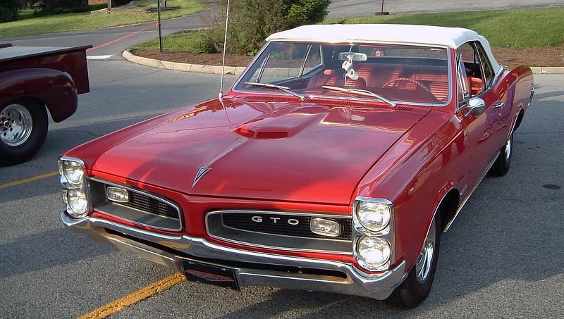 1966 Pontiac GTO convertible.