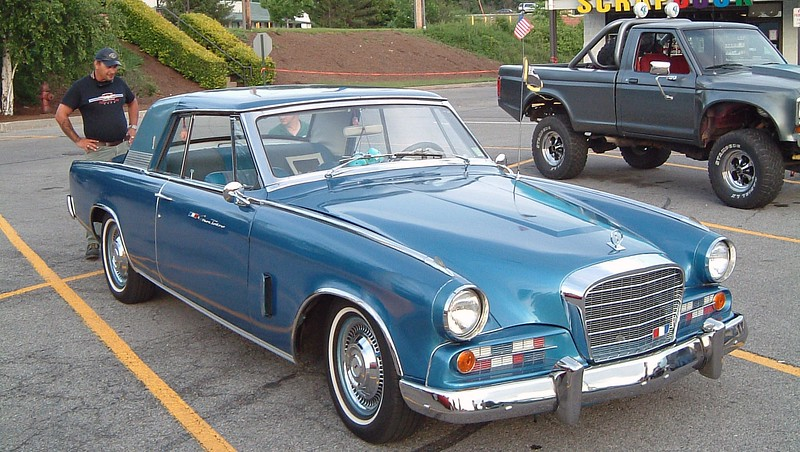 1963 Studebaker Gran Turismo Hawk:  This is another very rare car, one of 4,634 produced in 1963.  The following year would be the last for the Hawk, and Studebaker, itself, would be gone by 1966.
