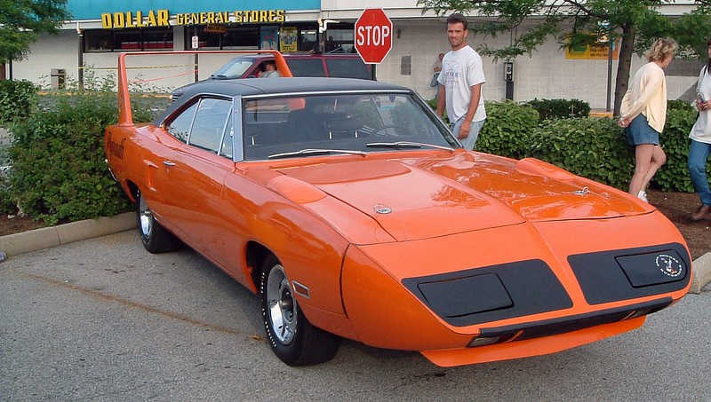 """1970 Plymouth Superbird:  This car, and the similar 1969 Dodge Charger Daytona, exist solely because of NASCAR.  Chrysler created the """"Winged Warriors"""" to compete with Ford on the high banked ovals around the country."""