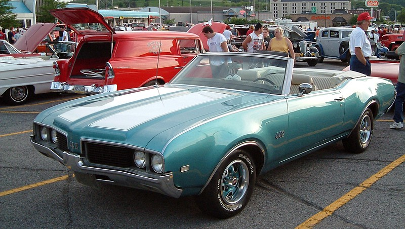 1969 Oldsmobile 442 convertible:  Oldsmobile produced 4,295 442 convertibles in 1969 making this car quite rare.