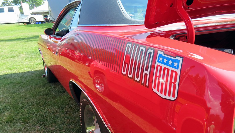 """AAR"" stood for All American Racers, which was the name of Dan Gurney's Trans Am racing series team.  Gurney drove a Plymouth Barracuda in the 1970 season.  Plymouth produced 2,724 commemorative AAR edition 'Cudas during the 1970 model year.  Approximately 385 of those were painted Rallye Red."