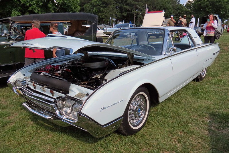 1962 Ford Thunderbird.  This is a beautifully restored car with the 390 CID V8 and factory air conditioning.