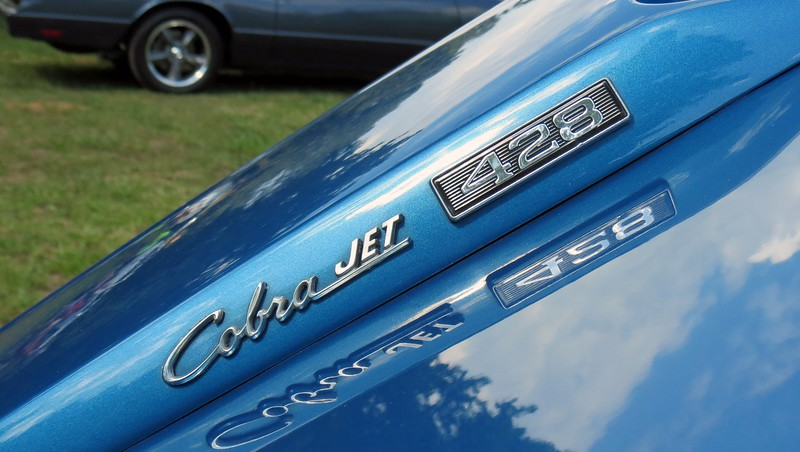 In an era when automakers were known to underrate horsepower figures, the 7.0L Cobra Jet was rated at a laughable 335 hp.  Actual output was well north of 400 hp.