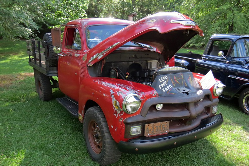 1955 Chevrolet 3600 truck.  The 3600 Series was the 3/4 ton model of the Advanced-Design platform from 1947 - 1955.