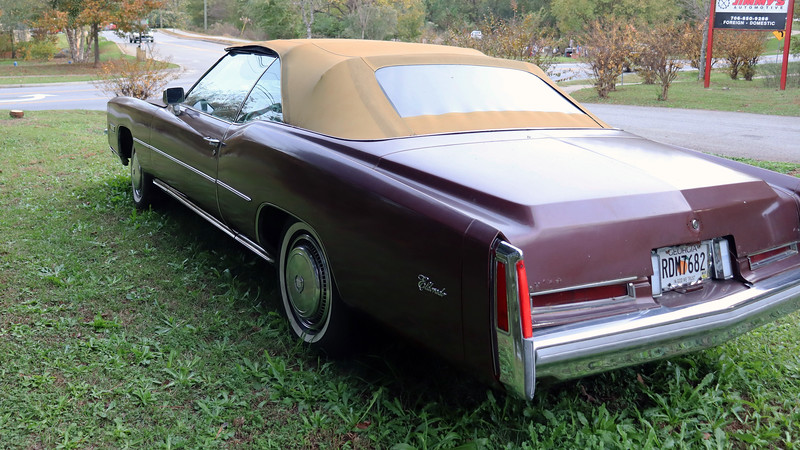 """The """"Last Convertible"""" marketing also put the 1976 Eldorado convertible in the same category as other automotive """"investments.""""  Many of these cars were purchased new and then put away in climate-controlled storage for, in some cases, several decades.  When these ultra-low mileage museum quality cars, (some with single digit odometer readings and graded #1), emerge from their long naps, they bring big money at collector car auctions.  Cars with normal wear and tear and appropriate mileage, (#2 or #3 grade), still go for $15k or more.<br /> <br /> This car, however, was not one of those.  The $6,500 asking price gives the potential buyer an indication of what to expect."""