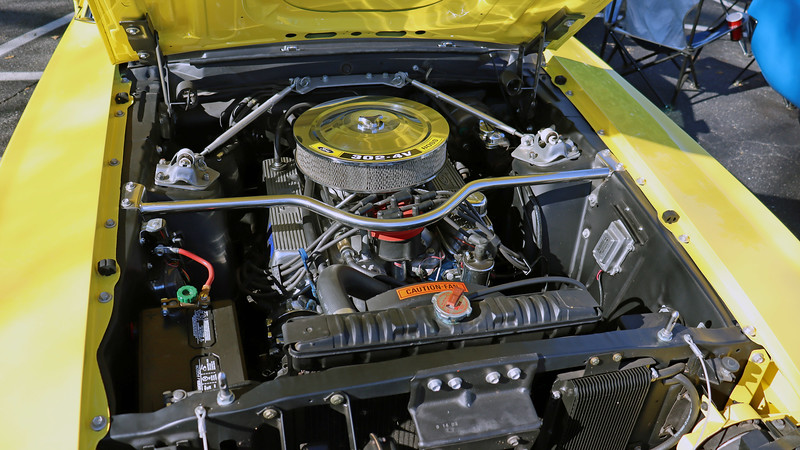 Power comes from Ford's 302 CID V8.  In Boss trim, the engine was rated at 290 hp, but actual output has been reported to be closer to 350 hp.