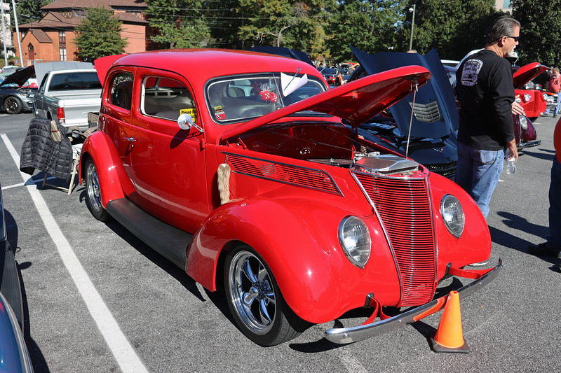 The first of two 1937 Ford 2-door sedans.
