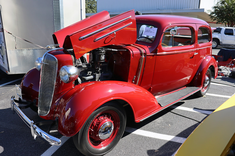 1936 Chevrolet Master town sedan.<br /> <br /> This stunning car is seen regularly at local car shows.  The beautiful restoration features a display of original tools.