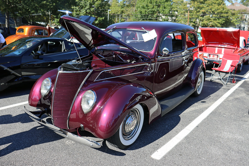 The second 1937 Ford 2-door sedan was parked two spaces away.