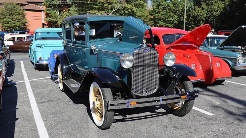 1930 Ford Model A 2-door sedan.