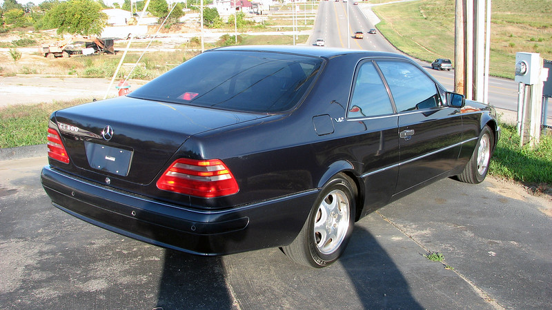 We spotted this 1999 Mercedes-Benz CL600 coupe at another small lot near Home Depot.