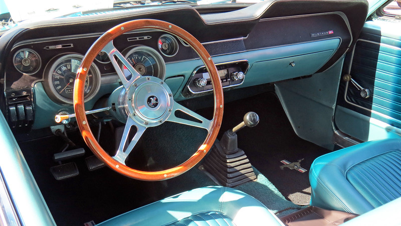 A rare 3-speed manual transmission.