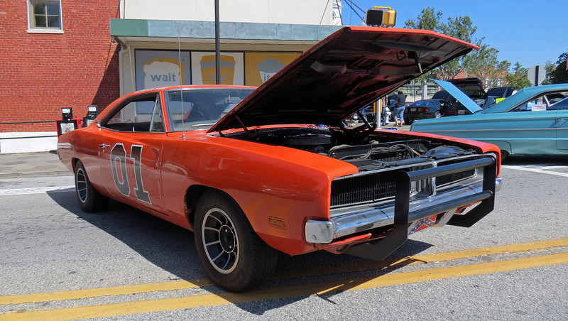 1969 Dodge Charger - one of two General Lee tributes at the show today.