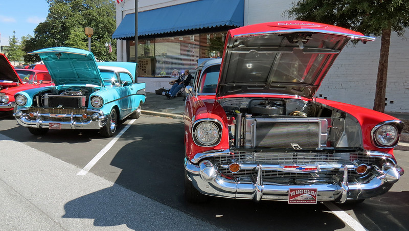 Two nice 1957 Chevrolets.