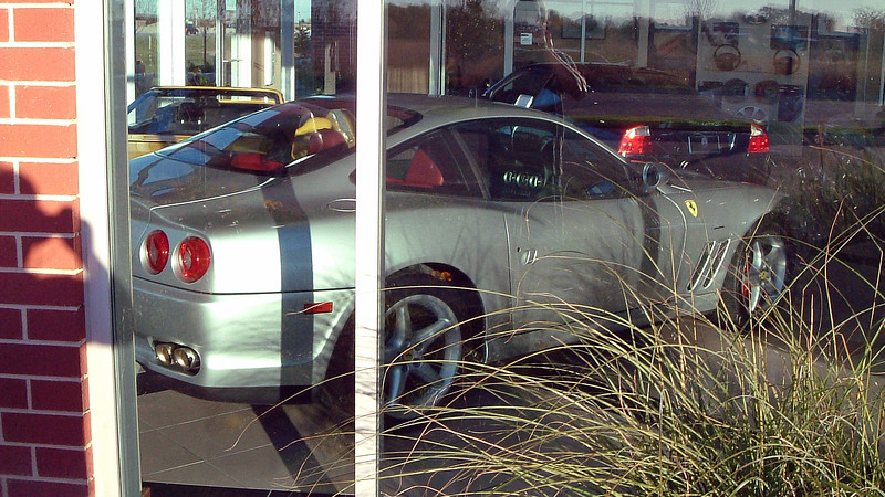 Ferrari 550 Maranello in the showroom.