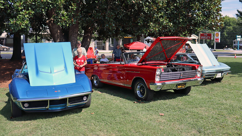 The 1965 Mercury Comet Caliente convertible (center), is relatively rare being 1 of 6,035 produced that year.