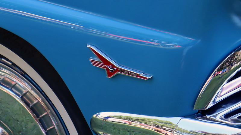 """Power comes from Ford's """"Thunderbird"""" V8."""