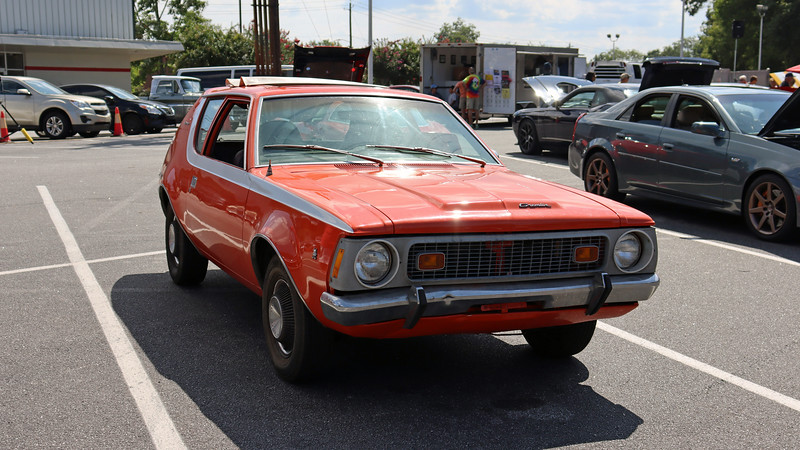 I have fond Gremlin memories from my teenage years, (my introduction to a manual transmission was in a friend's Gremlin in the mid-1980s in Pennsylvania).  It's been a while since I've seen one, not just at a car show, but anywhere.  The car owner just purchased this car earlier this year and did so because it had been extremely well preserved.