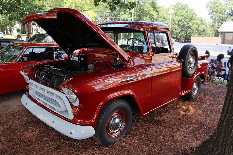 1957 Chevrolet 3100 Series pickup.