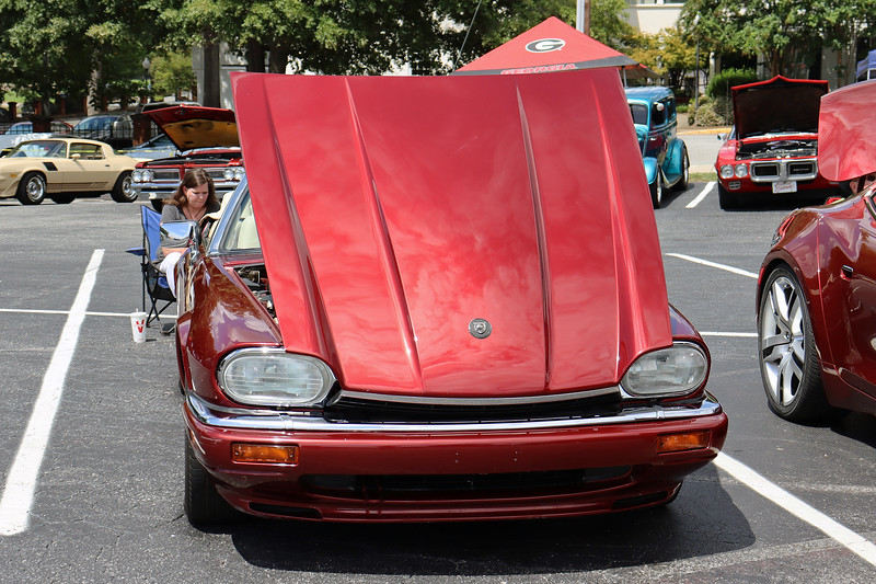 """I say the XJS was """"relatively clean"""" only because that's what I thought the car was.  Then I took a closer look and started wiping it down.  Turns out parking in line at a car show is the easiest way to find out how """"not-clean"""" the car actually is.  But after some effort, I had the car looking pretty nice."""