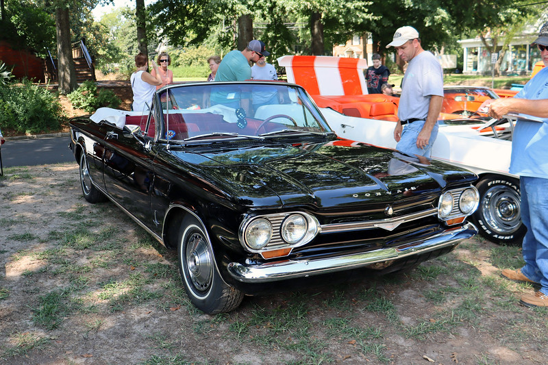 I don't know the exact year of this car.  But it's a first generation Corvair which was produced from 1960 - 1964.