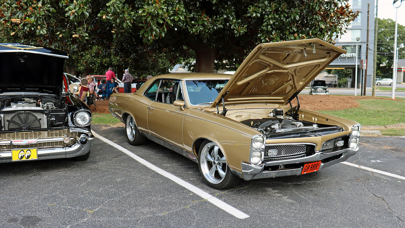 1967 Pontiac GTO.  <br /> <br /> Pontiac purists may cringe at the sight of a modern Chevrolet LS V8 under the hood.  But a modern drivetrain allows a classic car to be driven more often.