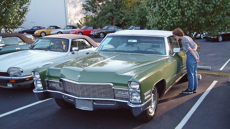 A stunning 1968 Cadillac Deville convertible.