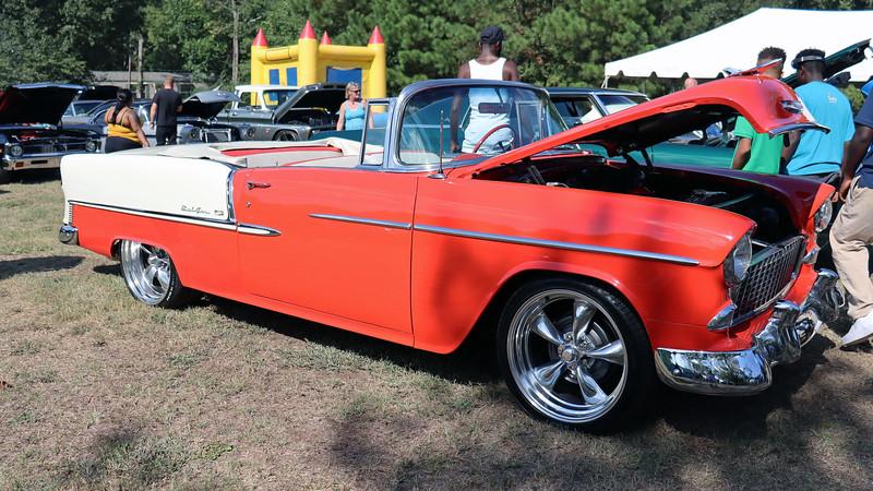 1955 Chevrolet Bel Air convertible.