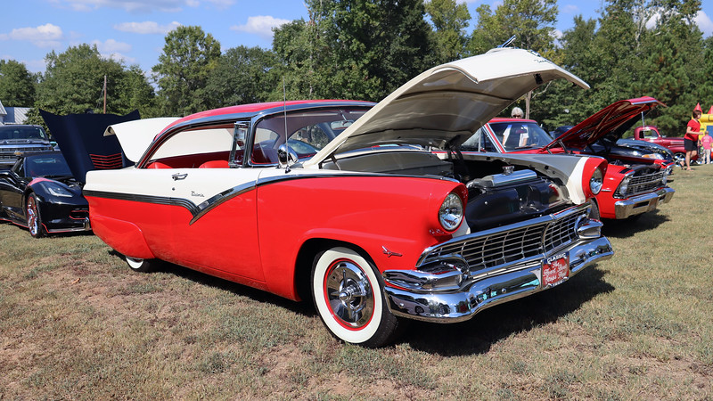 1956 Ford Fairlane Victoria coupe.