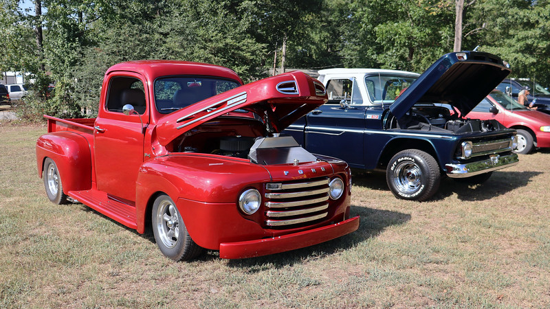 1950 Ford F1 pickup.<br /> <br /> This was the second of two first generation Ford F1 pickups on display.
