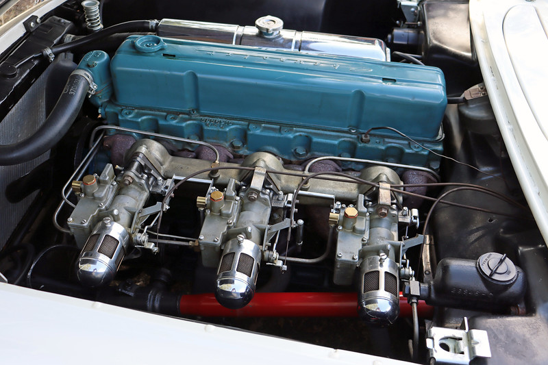 The engine's normal 105 hp output was increased to 150 hp for the Corvette via a host of upgrades including a trio of carburetors.