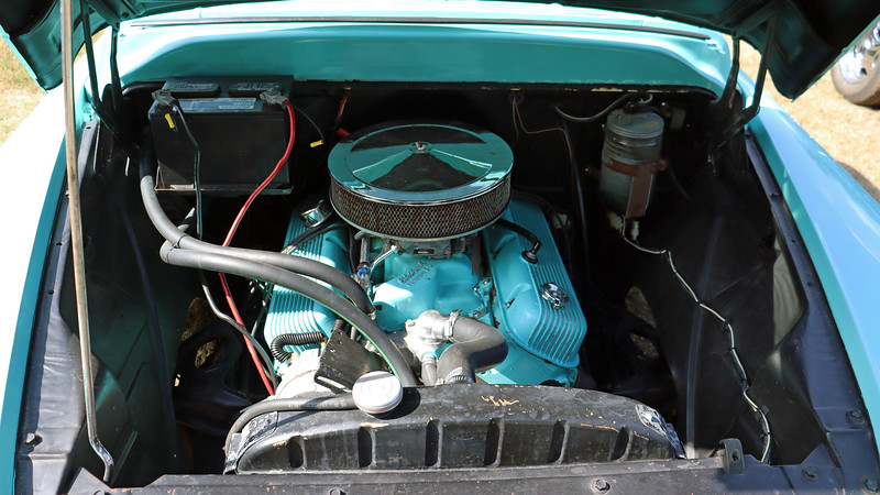 Power comes from a modified big-block V8.