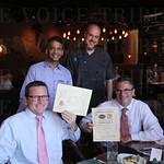 Rob Scott, Rajesh Joseph, Chef Chip Lawrence and Wes Wilhite.