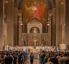 Friday evening Mass, over 5,000 attended