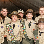Boy Scout Troop 984 of Goshen, KY earned service hours working the 2015 Warrior Empowerment Foundation Tribute to Troops Benefit Bash.