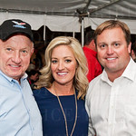 Bill Roby of USA Cares with MC Karen Roby of WLKY and Brian Forrest.