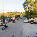 Two buses full of soldiers from the Warrior Transition Battalion at Ft. Knox, arrived with an escort provided by Oldham County Law Enforcement, North Oldham Fire Dept., and  the motorcycle group, Kentucky Patriot Riders.