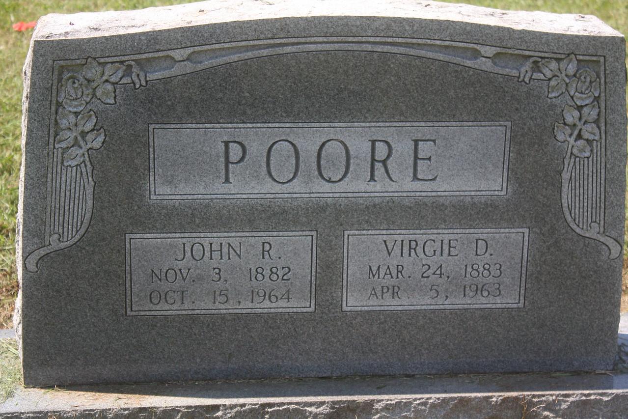 John and Virgie Poore, maternal grandparents to Donald Wassum