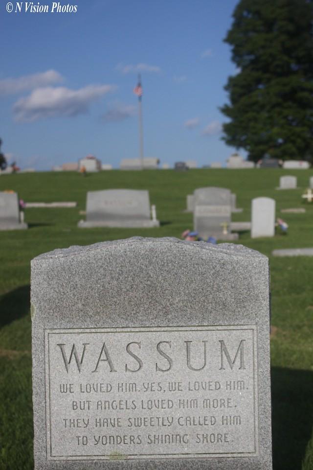 Location of William N. Wassum, Wassum Cemetary