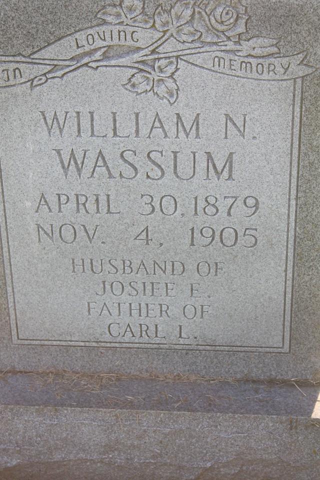 William N. Wassum, father of Carl Wassum, paternal grandfather to Donald Wassum, Douglas Wassum and Marie Wassum Brandt Moulton