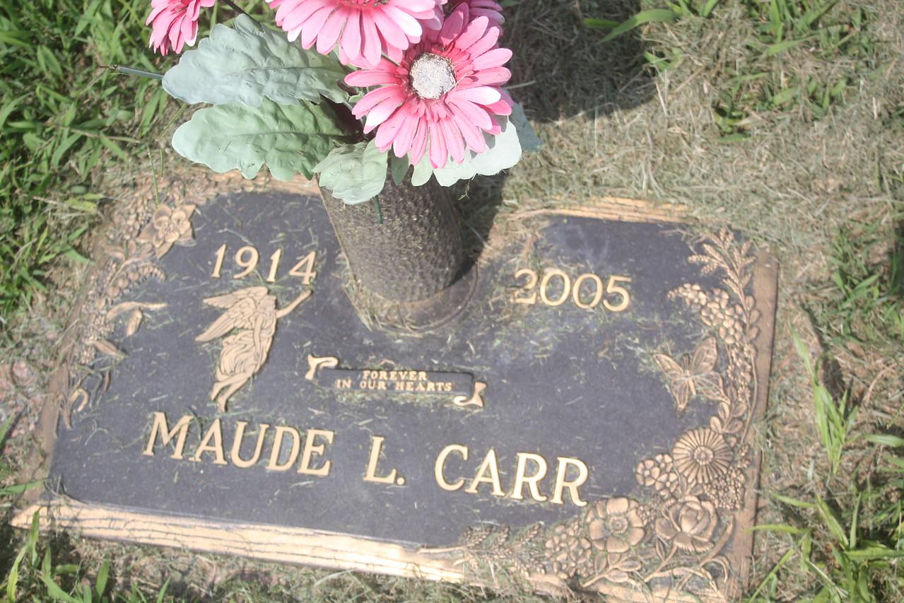 Maude L. Carr, maternal Aunt to Donald Wassum, Douglas Wassum and Marie Wassum Brandt Mottern