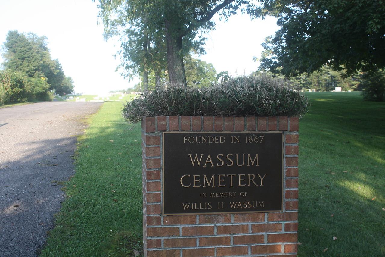 The Wassum Cemetary, Marion, Virginia just off I-81