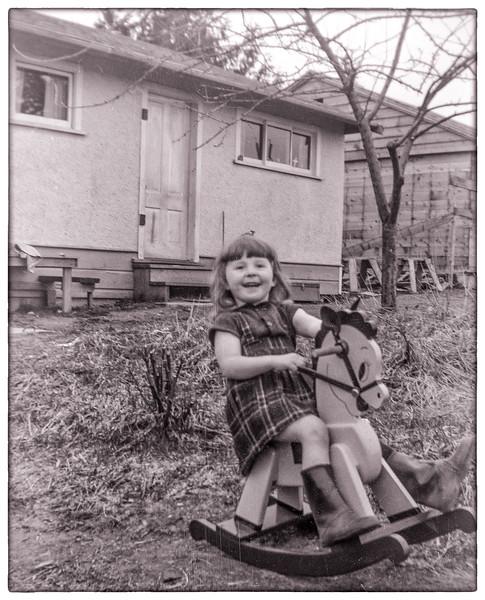 me aged 4, duplex on Grosvenor Road Surrey.