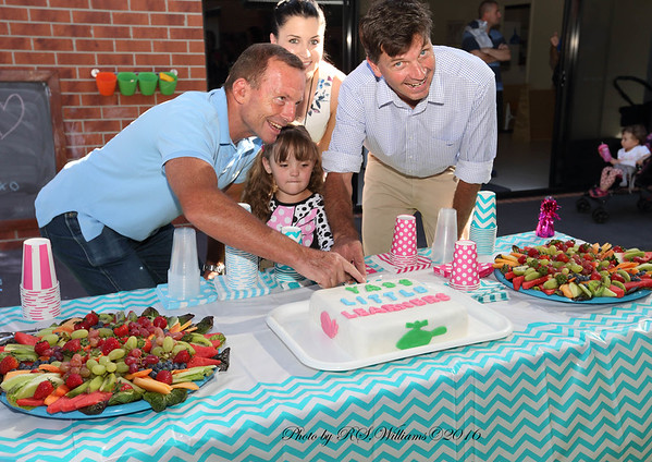 Cutting the cake at early learning centre Yass