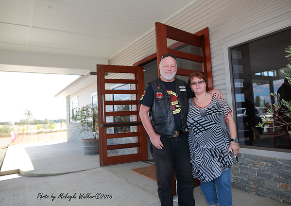 Reverend Garry Brown with wife Raylene at The Vine Church opening 19 March 2016