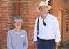 Marilyn Watson with Perth visitor Neil Daetwiler at Cooma Cottage