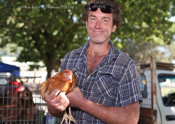 Greg Harrington at Murrumbateman Markets, Easter Saturday