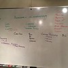 Whiteboard from a coaching classroom session